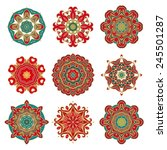 set of decorative rosettes | Shutterstock .eps vector #245501287