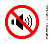 not speaker sign vector | Shutterstock .eps vector #245501323