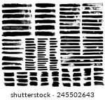 set of black ink vector stains | Shutterstock .eps vector #245502643