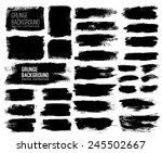 set of black ink vector stains | Shutterstock .eps vector #245502667
