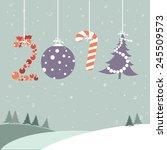 happy new year  illustration | Shutterstock . vector #245509573