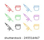 icon set of sealer in different ... | Shutterstock .eps vector #245516467