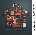 flat design concepts home... | Shutterstock .eps vector #245522953