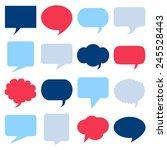 blank empty speech bubbles... | Shutterstock .eps vector #245528443