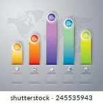 abstract 3d digital... | Shutterstock .eps vector #245535943