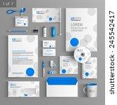 white corporate identity... | Shutterstock .eps vector #245542417