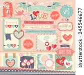 valentine s day scrapbook set   ... | Shutterstock .eps vector #245546677