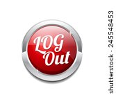 log out red vector icon button | Shutterstock .eps vector #245548453