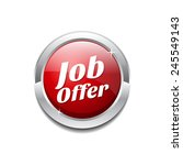 job offer red vector icon button | Shutterstock .eps vector #245549143