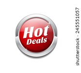hot deals red vector icon button | Shutterstock .eps vector #245551057