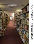 volumes of books on bookshelf...   Shutterstock . vector #245570773