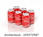 3d six pack collection of cola... | Shutterstock . vector #245572987