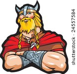 portrait of the viking  cartoon ... | Shutterstock . vector #24557584
