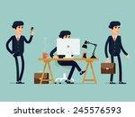 vector modern flat design... | Shutterstock .eps vector #245576593
