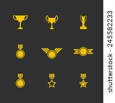 prize and reward icons   cup... | Shutterstock .eps vector #245582233