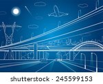 car overpass  infrastructure ... | Shutterstock .eps vector #245599153
