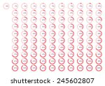 percentage icons full set... | Shutterstock .eps vector #245602807