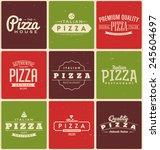 typographic pizza label design...