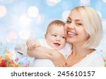 people  family  motherhood and... | Shutterstock . vector #245610157