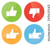 thumbs up icons set | Shutterstock .eps vector #245619163