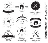 Постер, плакат: Barbershop hair salon logo