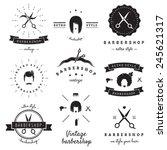barbershop  hair salon  logo... | Shutterstock .eps vector #245621317
