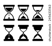 Sand Glass Clock Icons Set....