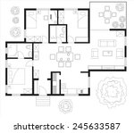 Black And White Floor Plan Of ...