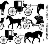 Carriage Seamless Background....