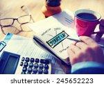 businessman planning startup... | Shutterstock . vector #245652223