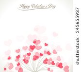 vector retro valentines card | Shutterstock .eps vector #245655937