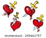bleeding hearts with daggers in ...