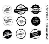 retro premium quality labels set   Shutterstock .eps vector #245663077