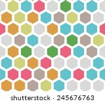 seamless colorful honeycomb... | Shutterstock .eps vector #245676763