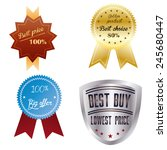 a set of labels with text and... | Shutterstock .eps vector #245680447