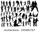 set of people silhouettes | Shutterstock .eps vector #245681767