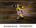 electric screwdriver | Shutterstock . vector #245685283