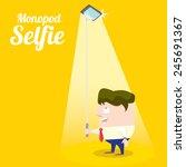taking selfie photo on smart... | Shutterstock .eps vector #245691367