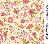 beautiful floral seamless... | Shutterstock .eps vector #245691547