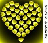 vector gems heart made of... | Shutterstock .eps vector #24569185