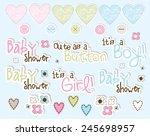 baby shower    Shutterstock .eps vector #245698957