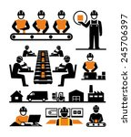 manufacturing process assembly... | Shutterstock .eps vector #245706397