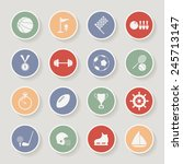 round sports icons. vector... | Shutterstock .eps vector #245713147