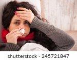 flu. closeup image of... | Shutterstock . vector #245721847
