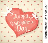 happy valentine's day | Shutterstock .eps vector #245735827