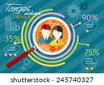 target audience infographic... | Shutterstock .eps vector #245740327