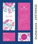vector pink flowers vertical... | Shutterstock .eps vector #245745433