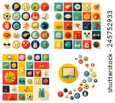 flat concept  design with... | Shutterstock .eps vector #245752933