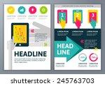 set of vector template for... | Shutterstock .eps vector #245763703