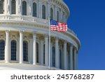 Us Capitol Building Dome Detai...